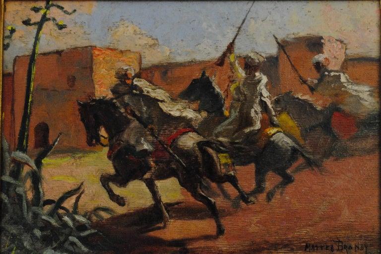 Mattéo Brondy - Cavaliers arabes aux murs de Marrakech (Arab Horsemen at the Walls of Marrakech) 1