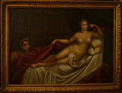 Odalisque couchée et faun lorgnant(Reclining Odalisque and a Leering Faun)
