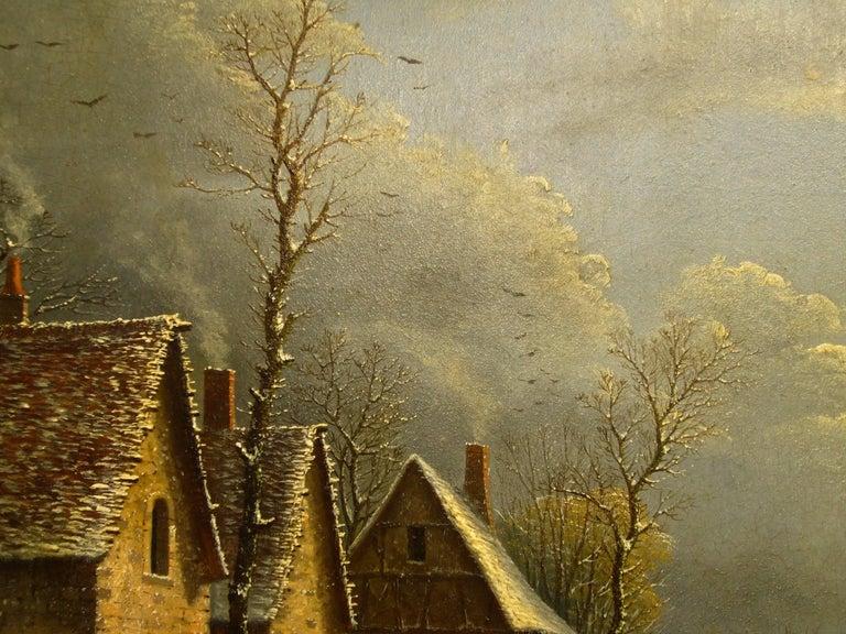 Village paysage enneigé en hiver - (Village Landscape in Winter) For Sale 2