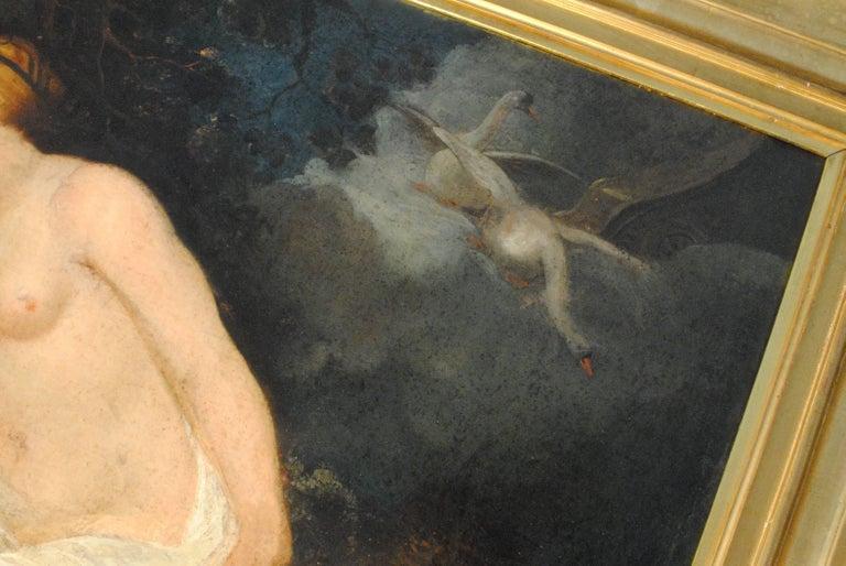 Lida et Cupidon en attentele cigneZeus(Lida & Cupid awaitingthe SwanZeus) - Old Masters Painting by Peter Paul Rubens