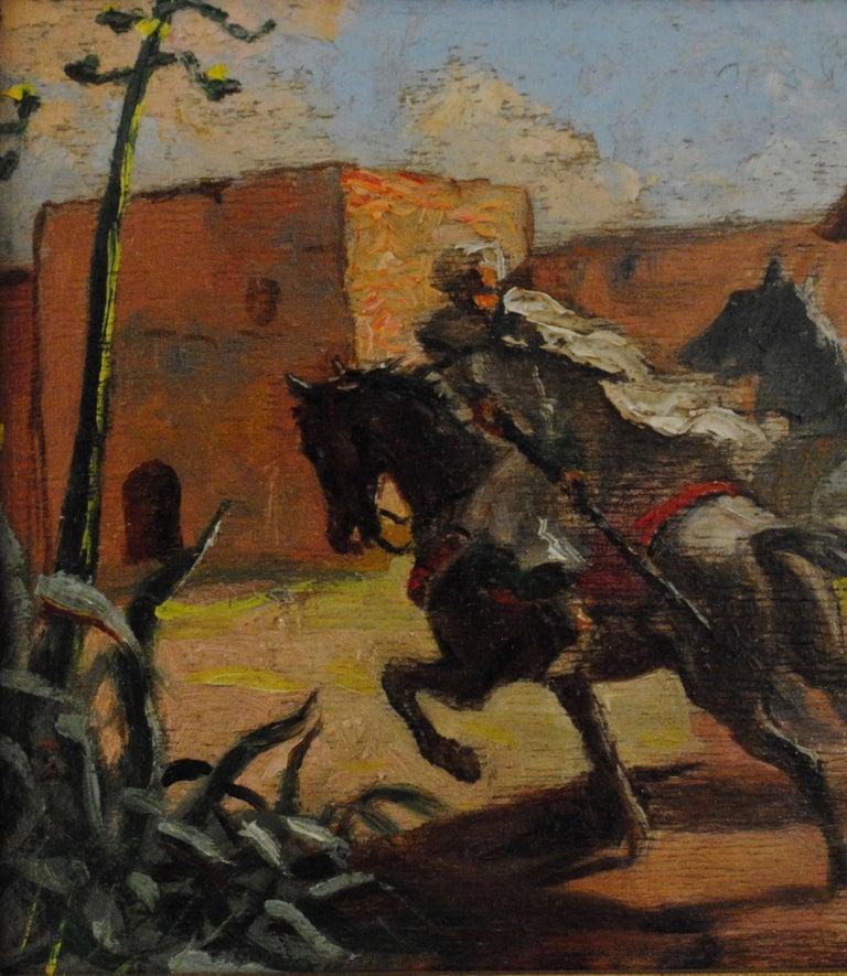 Cavaliers arabes aux murs de Marrakech (Arab Horsemen at the Walls of Marrakech) 7