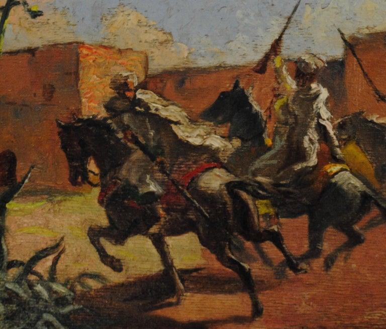 Cavaliers arabes aux murs de Marrakech (Arab Horsemen at the Walls of Marrakech) 10