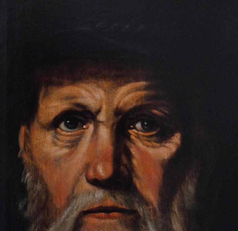 Portrait of Dirck Volckertsz Coornhert, circa 1603 - Old Masters Painting by Cornelis van Haarlem