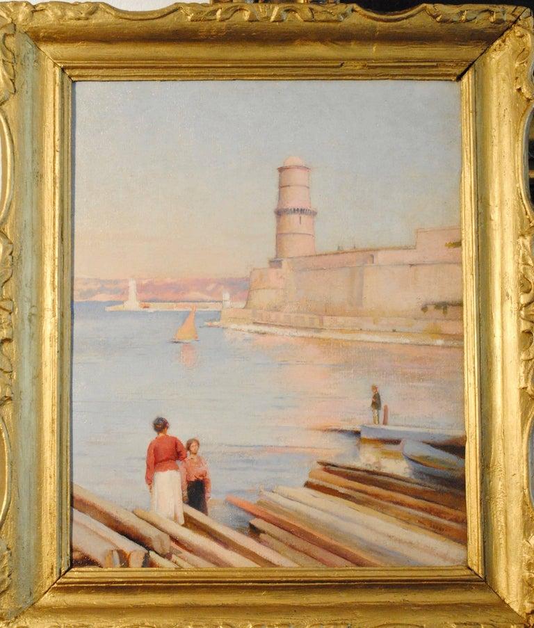 Ensoleillé matin au Phare de Marseille -  (Sunny Morning at the Lighthouse) For Sale 2