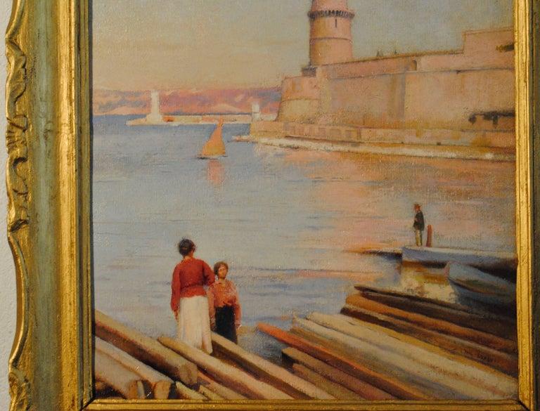 Ensoleillé matin au Phare de Marseille -  (Sunny Morning at the Lighthouse) For Sale 3