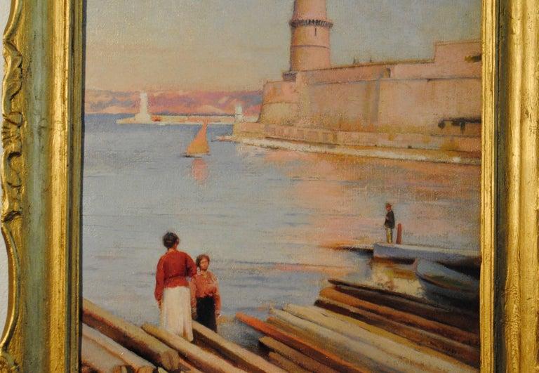 Ensoleillé matin au Phare de Marseille -  (Sunny Morning at the Lighthouse) For Sale 4