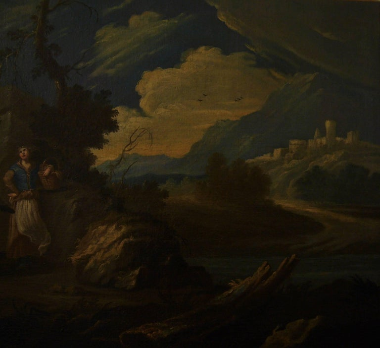 Couple sur une colline rocheuse au-dessous d'une rivière -Couple on a Rocky Hill For Sale 3