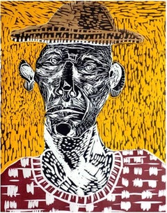 "Title: ""Ebodio"" - Wood Engraving Portrait Printed on 100% Cotton Paper"