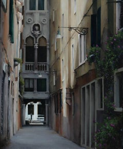 Passage, Venice Italy, Oil Landscape Painting