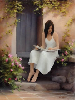 The Photo Album, Provence, Figurative Oil Painting, 2017