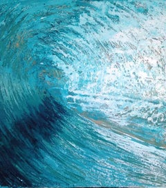 Glass Wave, Expressionist Seascape Painting