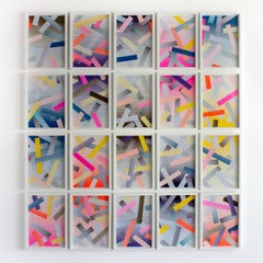 Contemporary Abstract Art, Collage on Paper by Jason Coburn