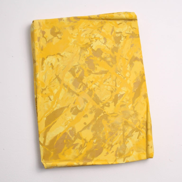 Contemporary Painting, Yellow Wall Relief by Mark Hosking