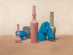 Still life with Horse and Bottles, Oil Painting on Canvas