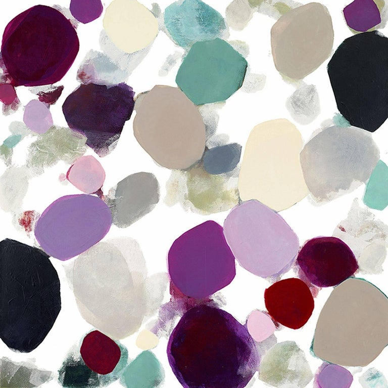 Heidi Carlsen-Rogers Abstract Painting - Petal Cascade I, Acrylic Painting on Canvas