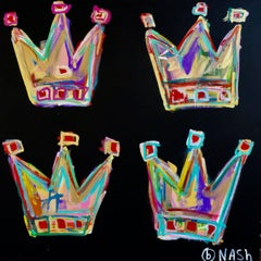 Four Crowns, Acrylic Painting on Canvas