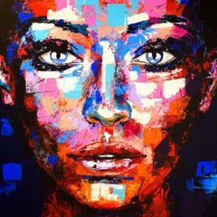 Original 897 Portrait, Acrylic Painting on Canvas