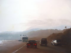 California Road Chronicles #63, Oil Painting on Wood Panel