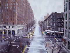 Wintry Crossroad, 10th Ave & 23rd St, Oil Painting on Canvas