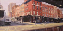 Slavin's, Fulton Fish Market, Oil Painting on Canvas