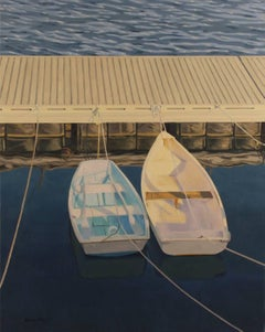 Rockport Dock #5, Oil Painting on Canvas