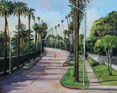 Beverly Drive, Beverly Hills, Oil Painting On Canvas