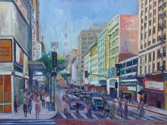 8th & Broadway, Los Angeles, Oil Painting On Canvas