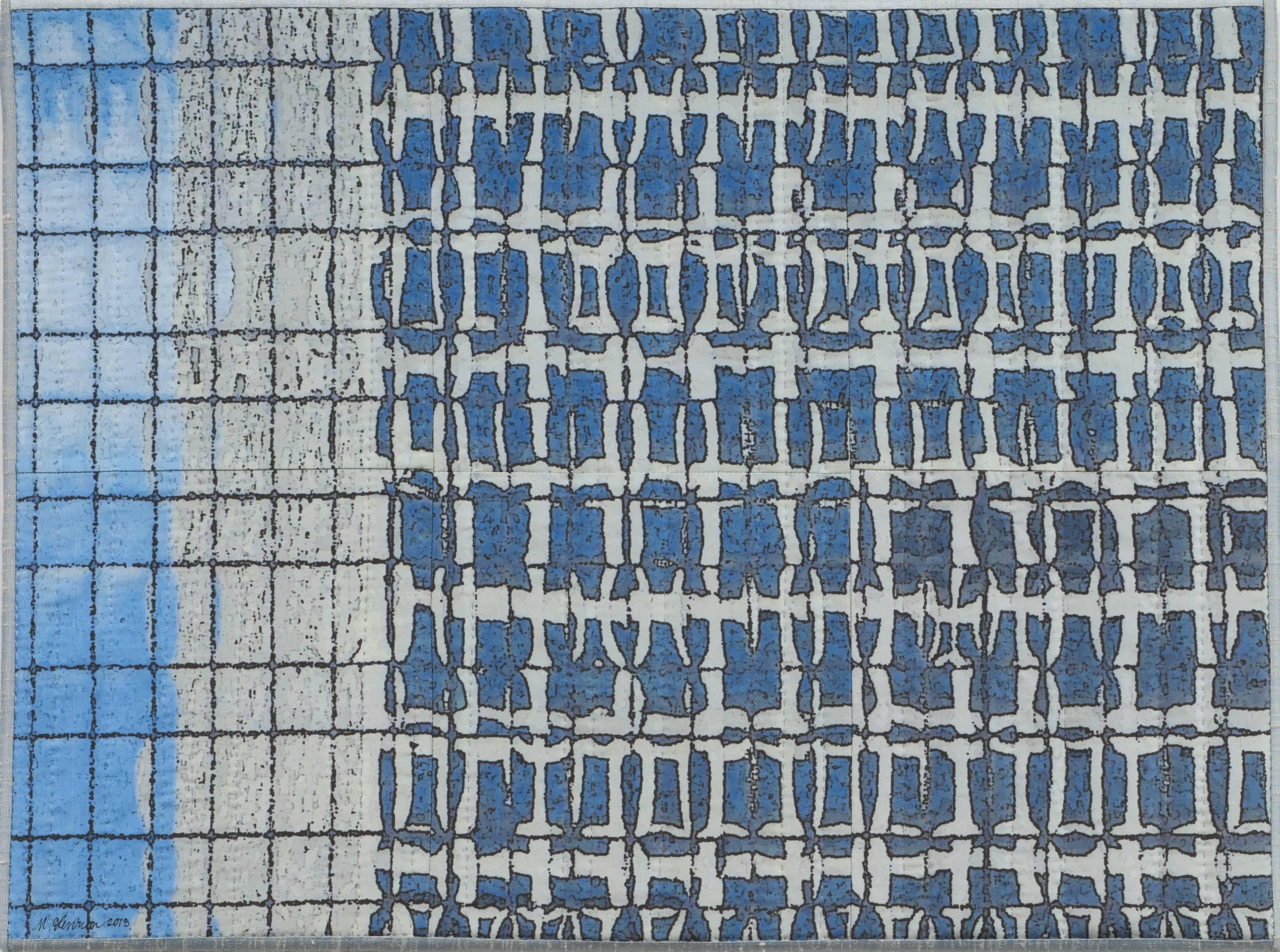 Chicago Windows 1303, Mixed Media on Canvas