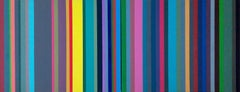 Reconfigured Stripes, 2017, Acrylic Painting on Canvas
