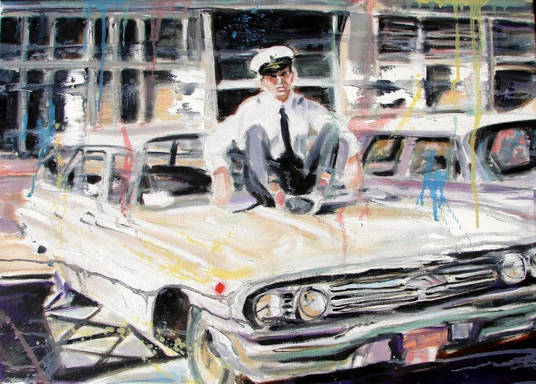 My Father in Aer Lingus Uniform, Oil Painting on Canvas