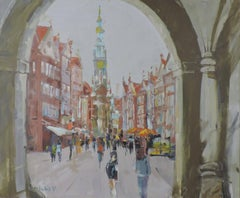 Gdansk, Oil Painting on MDF Panel