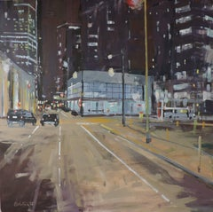 Night in the City 002, Oil Painting