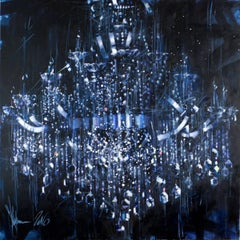 The extinguished chandelier, Oil Painting on Canvas