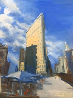 Flatiron on a Sunny Day, Oil Painting on MDF Panel