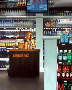 Liquor Store, Acrylic Painting on Wood