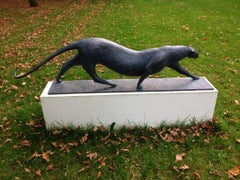 Grand Félin (Big Feline) by Pierre Yermia - Animal Sculpture, Outdoor Art