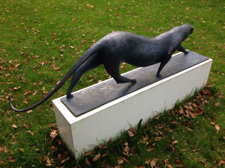 Grand Félin (Big Feline) by Pierre Yermia - Animal Sculpture, Outdoor Art For Sale 3