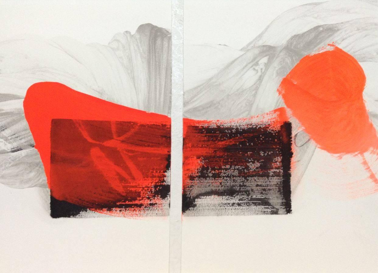 Permanescence N401 - Calligraphy-based abstract painting (contemporary)