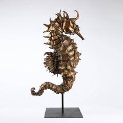 Seahorse Rex Gold, Bronze Sealife Sculpture