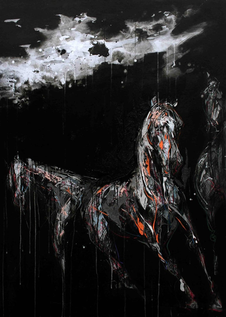 Nocturnal Melody 5 - Animal Painting (Horses) 1