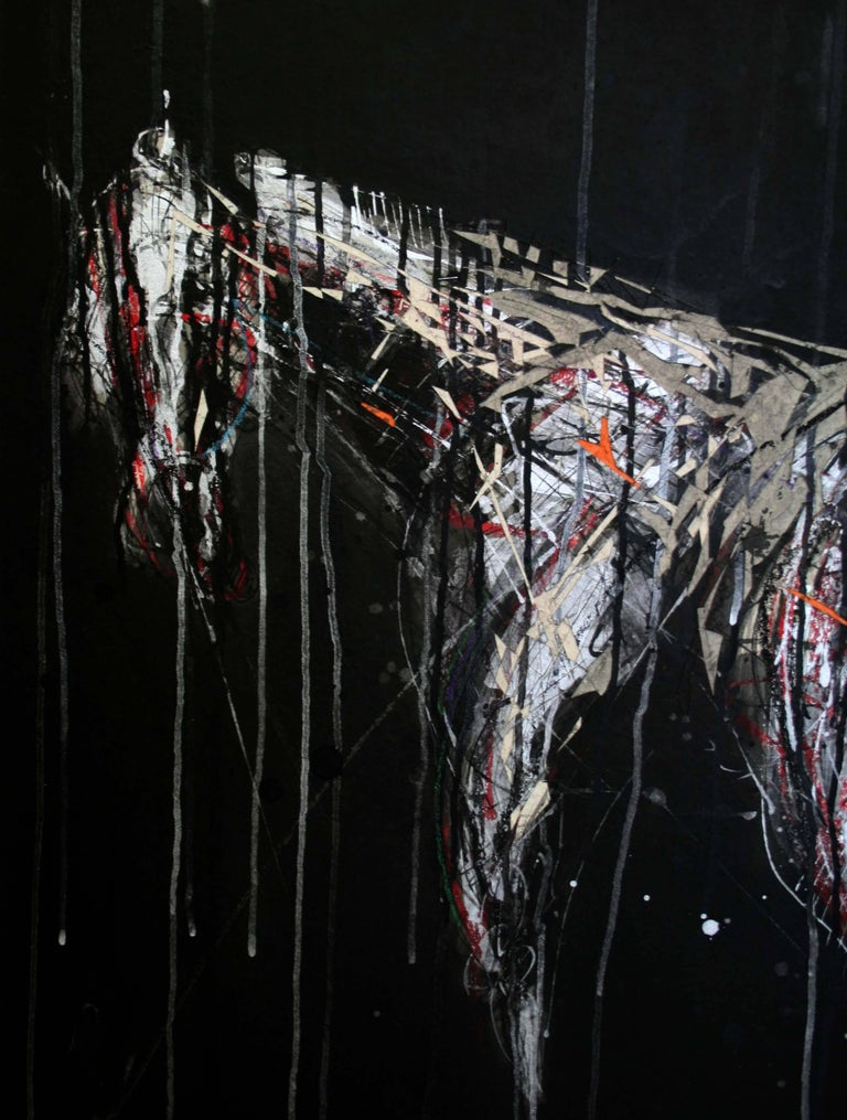 Nocturnal Melody 5 - Animal Painting (Horses) 2