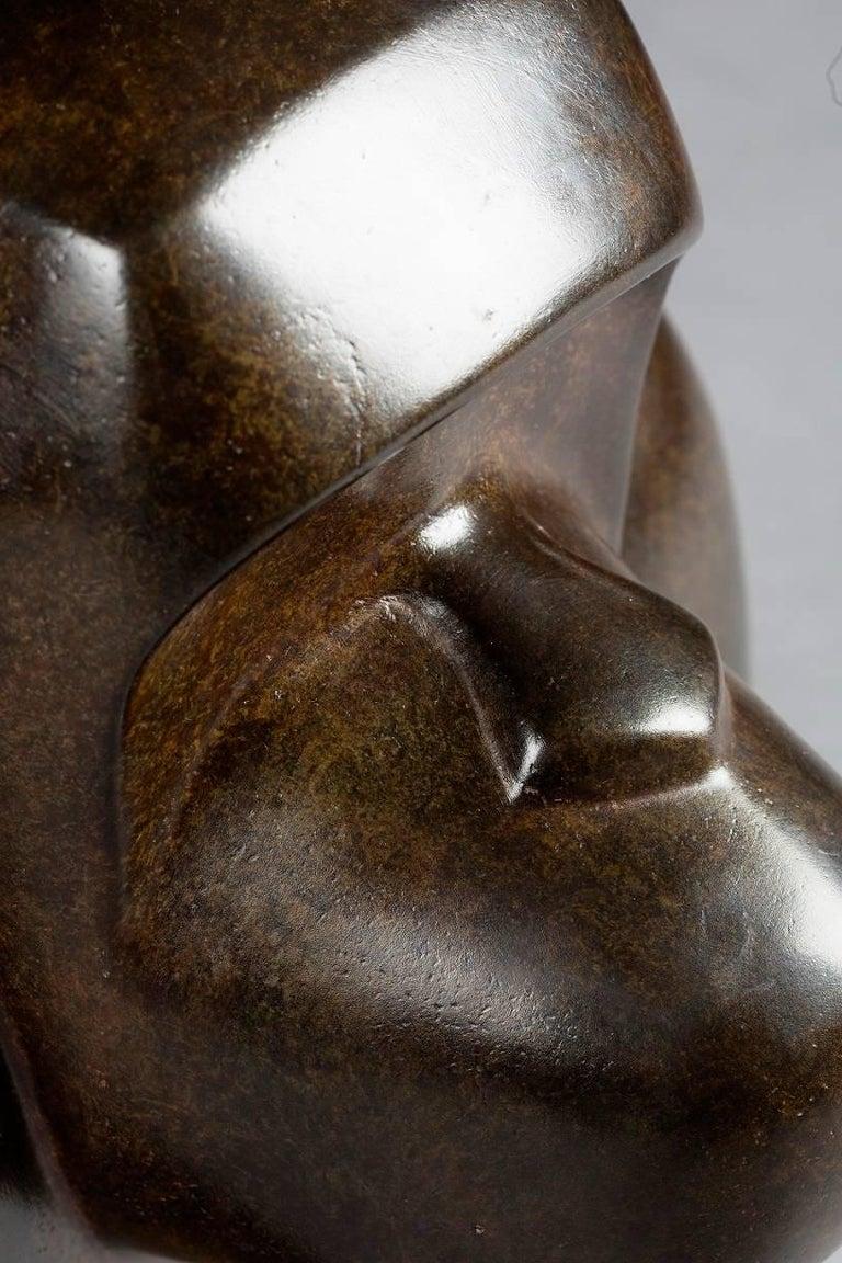 Oscar, Bronze Animal Sculpture (Bonobo Monkey) For Sale 3