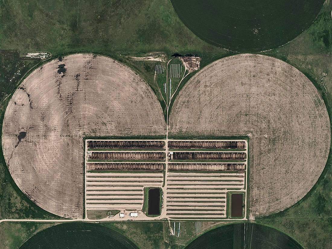 Circle Irrigation 03 (Kansas, USA), Aerial abstract photography