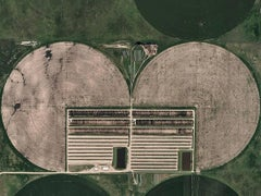 Circle Irrigation 03 (Kansas, USA), Aerial abstract photography
