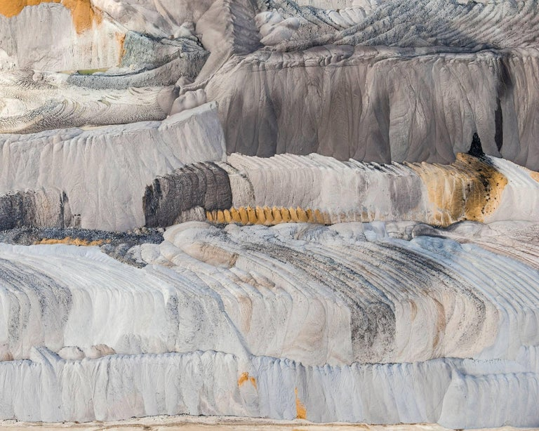 Bernhard Lang Abstract Photograph - Coal Mine 7 (Germany), Aerial abstract photography