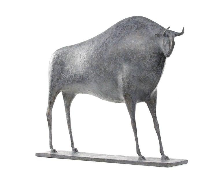 Taureau V (Bull V), Animal Bronze Sculpture 2