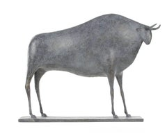 Taureau V (Bull V), Animal Bronze Sculpture