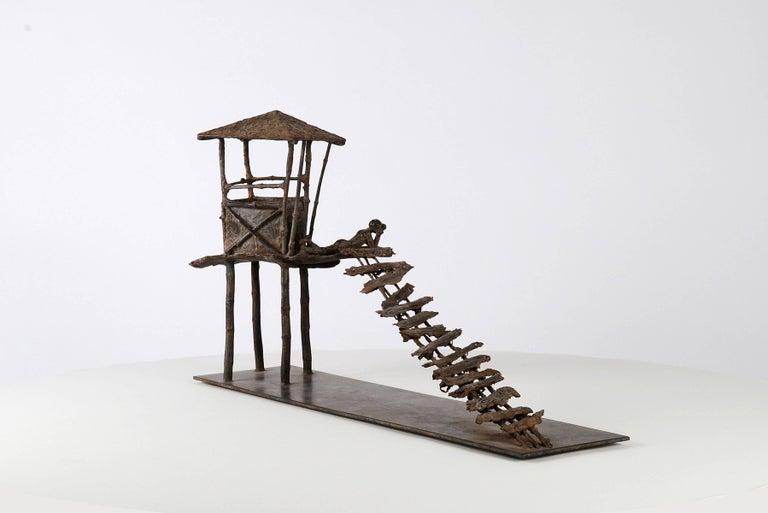 Marine de Soos Figurative Sculpture - The Curved Boards, Bronze Sculpture