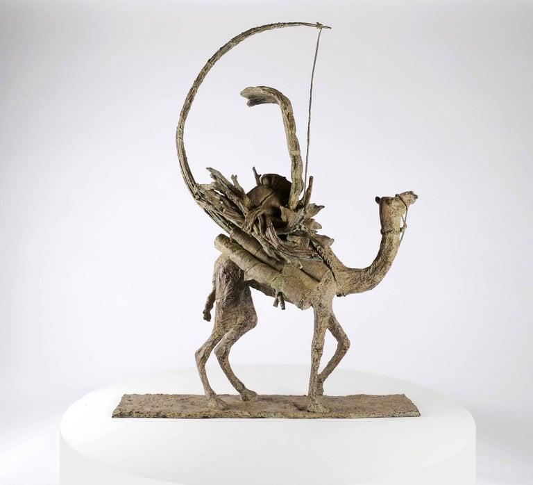 Marine de Soos Figurative Sculpture - The Vessel of the Desert, Animal Bronze Sculpture (Camel)