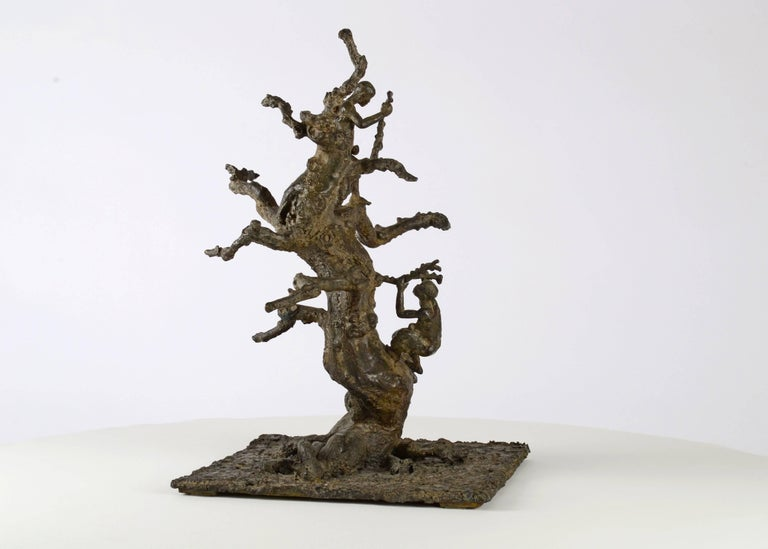 Tree With Children, Bronze sculpture For Sale 2